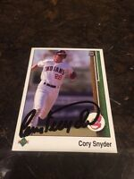 Cory Synder Autographed Auto Signed Baseball Card Trading MLB