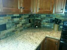 SLATE Subway PATTERN MOSAIC STONE TILE Kitchen Backsplash FREE PRIORITY SHIPPING