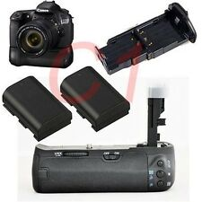 Pro Battery grip Fr CANON EOS 60D 60DA  XIT + 2x LP-E6 1800mAh as BG-E9 DSLR SLR