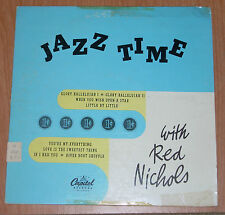 """JAZZ TIME WITH RED NICHOLS. 10"""" LP Capitol Records (H-215) 1950's"""