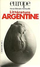 EUROPE - REVUE LITTERAIRE - LITTERATURE ARGENTINE N° 690 - 1986