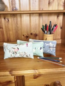 UK Hand Made Fully Lined Floral Theme Oilcloth Purses, Pencil & Glass Cases