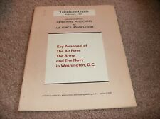 Telephone Guide For Industrial Associates & Air Force Association Book - 1960