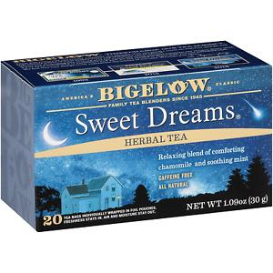 Bigelow Sweet Dreams Herbal Tea 20 Bags Pack of 6, 120 Tea Bags Total.  Herbal