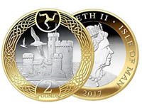 Uncirculated Isle of Man Tower of Refuge £2 Two Pound Coin rare collector qualit