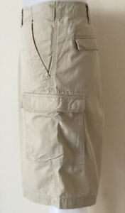 BIG Mens Timberland Cargo Combat Beige Shorts Size XL W40 Excellent Condition
