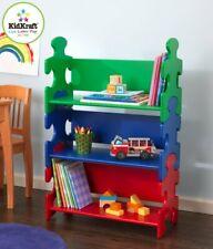 KidKraft Wood Kids Puzzle Bookcase Shelf - Primary | 14400