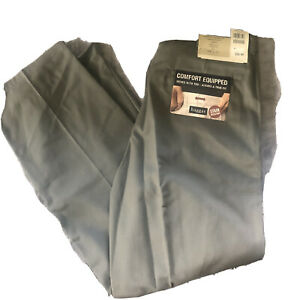 NWT Haggar men's pants Classic Fit olive pleated  34W X 30L