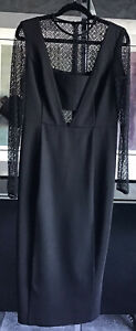 Coast Ladies Gorgeous Black Lace Underlay Dress BNWT UK 12