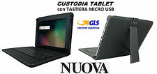 Custodia ecopelle per Tablet 9' con Tastiera QWERTY Techmade Pk-09ax