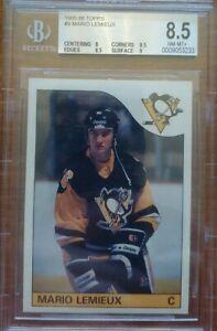 1985-86 Topps #9 Mario Lemieux Rookie Card BGS 8.5 NM-MT+!!!!!!