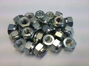 (QTY 6) M8 GENUINE AEROTIGHT®  METAL SELF LOCKING NUTS STEEL ZINC/CLEAR PLATED