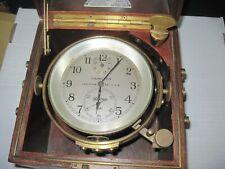 Vintage Ww2 Naval Hamilton Boxed Chronometer- A Beauty