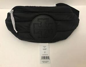 NWT!!Tory Burch Tory Burch Black Ladies Ella Quilted Belt Bag In Black MSRP$198