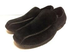 Merrell Duet Alto Loafer 9M Black Suede Low Wedge Heel Comfortable Insole EUC