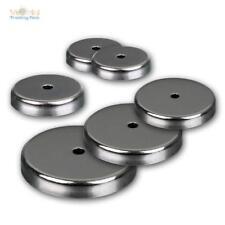 Rundmagnet mit Mittelloch bis 43kg Haftkraft Runder Magnet verchromt Chromblende