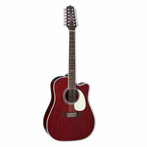 Takamine JJ325SRC-12 John Jorgerson 12-String Dreadnought Cutwaway Guitar w Case