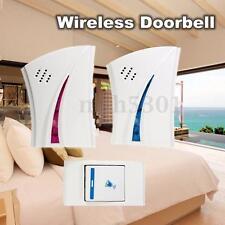 Wireless Door Bell 36 Songs Tune+1 Remote Control Button 2 Receiver Doorbell-US