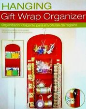 Hanging Gift Wrap Organizer Birthday Wrapping Station Christmas Paper  Bows Tape