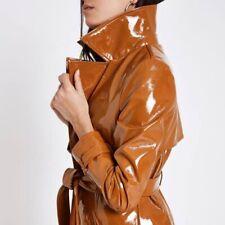 RAINS PVC Light Brown Ochre Long Raincoat Brand New Unworn XXS / XS Size 6 8