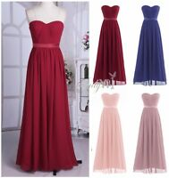 Women Long Bridesmaid Evening Formal Party Cocktail Wedding Dress Prom Ballgowns