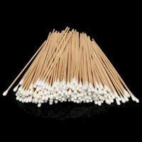 100Pcs Medical Swabs 6'' Long Wooden Handle Sturdy Cotton Applicator Swab Q-tips