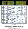 Blitzkrieg German Infantry Sprue 28mm WWII WARLORD GAMES BOLT ACTION