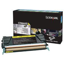 Lexmark Yellow Return Program Toner Cartridge C746A1YG