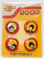THE BEATLES! YELLOW SUBMARINE! SET of 4 BUTTON PINS! 2009! MINT!
