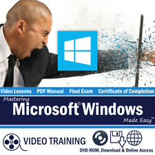Learn Microsoft WINDOWS 10 Training Tutorial DVD and Digital Course 164 Lessons