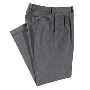 Polo Ralph Lauren Men's Gray Dress Pants Straight Cuffed Pleated Trousers 34x32