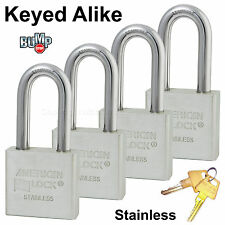 American Padlock - High Security Locks Solid Stainless Steel A6461NKA-4 BumpStop
