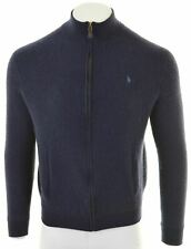 POLO RALPH LAUREN Mens Cardigan Sweater XL Navy Blue Wool  MS08