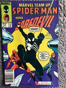 Marvel Team-Up #141 (Marvel, May 1984) VF/NM (9.0) new black costume, Daredevil