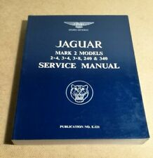 Jaguar Mk2 Models 2.4 3.4 3.8 240 340 Service Manual manuale d'officina