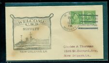 """USS Moffet (DD-362)Oct 12, 1936 """"New Orleans, Louisiana"""" cancel with cachet"""