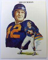 1989 All Time Great Quarterbacks Sid Luckman #4, Chicago Bears Football Card