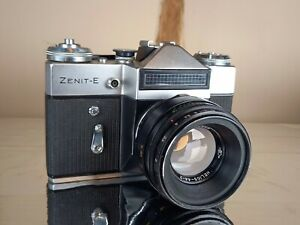 Vintage Zenit-E Camera with 58mm f2 Helios 44-2 lens