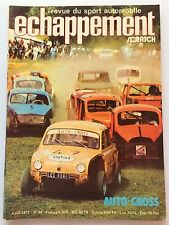 ECHAPPEMENT N°46 (AOUT 1972) AVEC POSTER , AUTO CROSS , FIAT 128 , ALFA SUD
