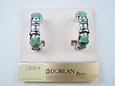Earring with Enamel 1388 D'Orlan Rhodium Plated Clip