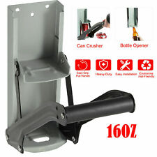 16oz 500m Heavy Duty Tin Can Crusher Wall Mounted Recycling Tool & Bottle Opener