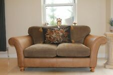 Alexander and James brown leather and fabric sofa £1550 still selling