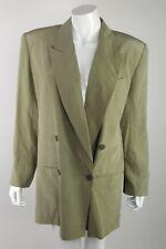 Express Womens Size Large Light Green 100% Silk Buttoned Up Blazer NWT