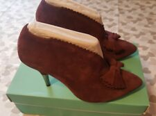 Clarks Softwear Ladies Chocolate Brown Suede Slip On Shoes Size UK 5.5 D