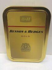 Benson & Hedges Gold Retro Advertising Brand Cigarette Tobacco Storage 2oz Tin