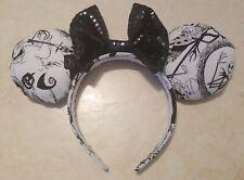 Handmade Minnie Mouse Ears- Nightmare Before Christmas