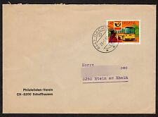 Switzerland: Stamp Collectors Society Cover + PTT Services Postbus stamp
