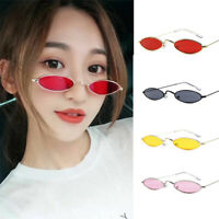 Women Fashion Glasses Sunglasses Retro Cute Oval Metal Frame Sunglasses UV400