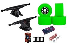 "Cal 7 Longboard 10.75"" Axle Truck Bearing 83mm Green Skateboard Wheels"