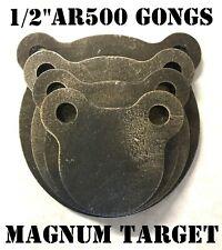 """AR500 1/2"""" Steel Shooting Targets - 3"""" 4"""" 5"""" 6"""" Metal Rifle/Pistol Range Gongs"""